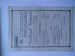 Maandag 2 December 1940  Muzikaal Koncert   Zottegem - Programmes
