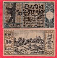 Allemagne 1 Notgeld 50 Pfenning  Stadt Berlin   état Lot N °117 - 1918-1933: Weimarer Republik