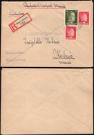 Germany - Deutsche Dienstpost Ukraine (Mi. 8,14 MIF) Einschreiben Brief, BREST LITOWSK (Bresi Litowsk), 22.1.1943.. - Besetzungen 1938-45