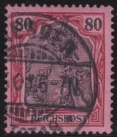 Deutsches  Reich   .    Michel   .   62       .     O     .     Gebraucht   .   /     .    Cancelled - Germania