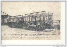 CARTE PHOTO 1955(PROBABLEMENT UN RETIRAGE) TRAMWAY CORBILLARD SERVICE FUNEBRE DE VINCENNES - Stations With Trains