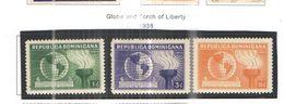 Rep.Dominicana PO 1938 Globe E Torch.  Scott.332/334+Used See Scans On Scott.Page - Repubblica Domenicana