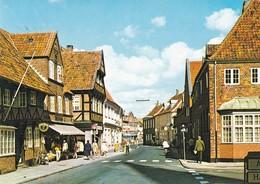 Postcard Ribe Street And Square Shops  People [ Esbjerg Jutland ] Denmark My Ref  B22376 - Denmark