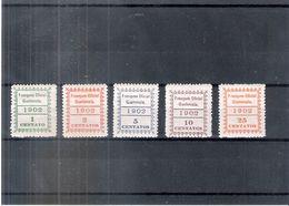 Guatemala - Service 1/5 - X/MH - Série Complète - Guatemala