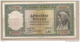 Grecia - Banconota Circolata Da 1000 Dracme P-110 - 1939 - Grecia