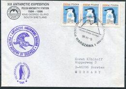 1994 Poland Antarctica Antarctic Polar Expedition Penguin Cover. South Shetland, King George Island - Antarctic Expeditions