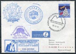 1995 Poland Antarctica Antarctic Polar Expedition Penguin Cover. South Shetland, King George Island, Czech C.A.A.A. - Antarctic Expeditions