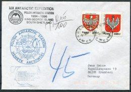 1996 Poland Antarctica Antarctic Polar Expedition Cover. South Shetland, Arctowski, Postage Due, Taxe, Penguin - Antarctic Expeditions