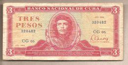 Cuba -banconota Circolata Da 3 Pesos P-107a.3 - 1985 - Cuba