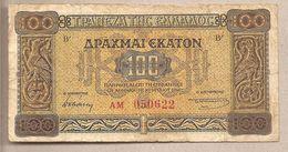 Grecia - Banconota Circolata Da 100 Dracme P-116a.1 - 1941 - Grecia