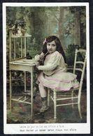 ENFANT - Fillette écrivant Une Lettre - Circulé - Circulated - Gelaufen - 1910. - Enfants