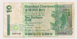 HONG KONG 10 DOLLARS BANQUE STANDARD CHARTERED - Hong Kong