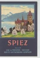 DEPLIANT TOURISTIQUE - SUISSE - SCHWEIZ - SPIEZ Et Le Lac De THOUNE - Reiseprospekte