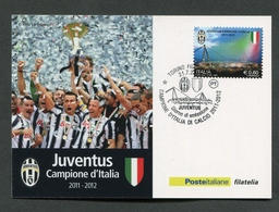 ITALIA FDC CARTOLINA MAXIMUM CARD 2012 - JUVENTUS CAMPIONE D'ITALIA DI CALCIO 2011 - 2012 - 371 - Cartoline Maximum