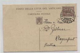 Vatican/Austria POSTAL CARD 1933 - Vatican