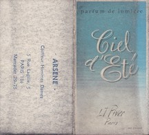 """Mini Calendrier 1962 Publicité """"Ciel D'Eté L.T. Piver""""  ARSENE Coiffeur Hommes Dames 5 Rue Lagille PARIS 18è - Calendars"""