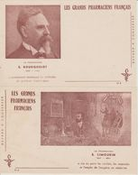 Lot De 4 Buvards Les Grands Pharmaciens Francais Dans Leur Emballage Cristal.Série 2 - Buvards, Protège-cahiers Illustrés