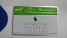 United Kingdom-(bta033)-scottish College Of Textiles-(20units)-(262h)-price Cataloge4.00£-card+1card Prepiad Free - United Kingdom