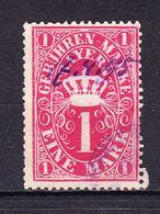 Bayern, Gebuehrenmarke, 1 Mark, 1895 (47634) - Gebührenstempel, Impoststempel