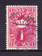 Bayern, Gebuehrenmarke, 1 Mark, 1894 (47635) - Gebührenstempel, Impoststempel