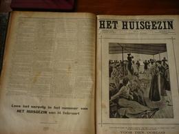 Het Huisgezin, Volledige Jaargang 1904, Ingebonden Met Lederen Rug, - Magazines & Newspapers