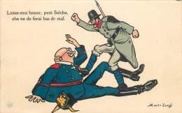 Guerre 14/18 - Caricatures Militaires - Illustrateur Mass'beuf - Laisse-moi Basser Petit Belche................... - Guerre 1914-18