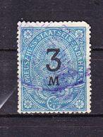 Preusz Hess Staatseisenbahnen, 3 Mark (47637) - Gebührenstempel, Impoststempel