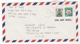 Air Mail  SOUTH KOREA COVER Flower Etc Stamps  To USA - Korea, South