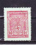 Generalgouvernement, Stempelmarke, 30 Gr (47638) - Gebührenstempel, Impoststempel