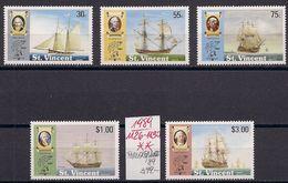 St. VINCENT 1989 Mi. 1126 Bis 1130 PHILEXFRANCE '89, MNH Postfrisch - Ships