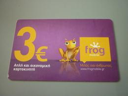 Frog Grenouille Greece Prepaid Phonecard - Télécartes