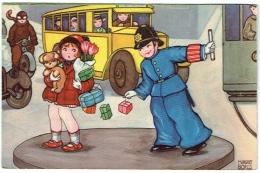 Illustrateur : Boriss Margret. Enfant. Policier. Bus. Motard Et Tram. - Boriss, Margret