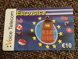 Euro Voice Telecom  10 Euro - Big Ben Church   -   Used Condition - [2] Prepaid