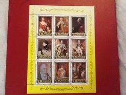Stamp Sheet 1984 Royalty British - 3 - Corea Del Nord