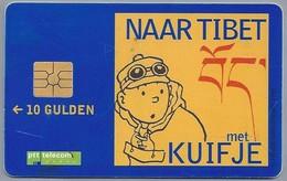 NL.- Telefoonkaart. PTT Telecom. 10 Gulden. Naar TIBET Met KUIFJE. A333 - Stripverhalen