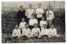 Carte Photo Toucy Football S.C.S.T   1913-1914 - Toucy