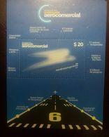 O) 2014 ARGENTINA, LOGO AEROLINEAS -TRIP AND LANDING TRACK-HANGAR-SOBERANIA AEROCOMERCIAL, MNH - Unused Stamps