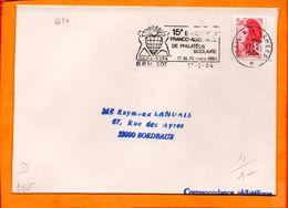 ARMEES, BPM 507, Flamme SCOTEM N° 6650, 15e Expo Franco Allemande Philatélie Scolaire - Storia Postale