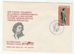 1979 POLAND FDC KOSCIUSZKO Philadelphia Monument Stamps Cover - Us Independence