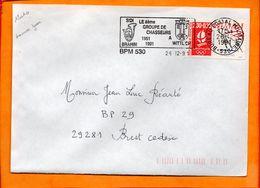 ARMEES, BPM 530, Flamme SCOTEM N° 12010, 8e Groupe De Chasseurs à Wittlich, 40 Ans - Marcophilie (Lettres)