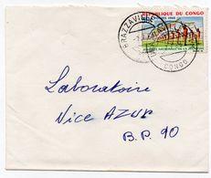 Congo YT N°182 Seul Sur Lettre Brazaville CTM Pour La France 1966 (Nice Azur Parfumerie Laboratoires) - Congo - Brazzaville