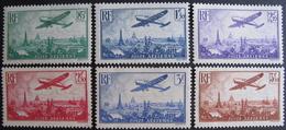 Lot FD/955 - 1936 - POSTE AERIENNE (SERIE COMPLETE) N°8 à 13 NEUFS* - Cote : 170,00 € - Airmail