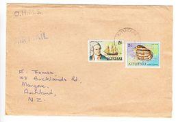 Luftpost, MiF Muschel U.a., Aitutaki Nach Auckland 1974 (47652) - Aitutaki
