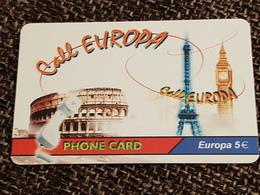 Call  Europe - 5 Euro Eiffel Tower - Collosseum - Big Ben   - Little Printed   -   Used Condition - Deutschland