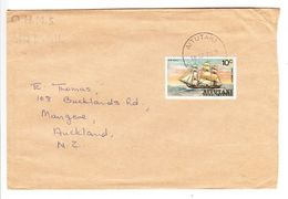 Luftpost, EF Segelschiff Bounty, Aitutaki Nach Auckland 1974 (47653) - Aitutaki