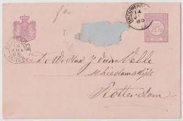 Nederland Briefkaart GD  Nr. 8A A   Van Brouwershaven Naar Rotterdam 14  Jun 1885 - Entiers Postaux