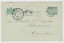 Nederland Briefkaart GD  Nr. 25 Van  EIJSDEN  Naar Ginneken 27JUL  1903 - Entiers Postaux