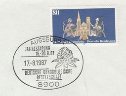 1987  DENROLOGY EVENT COVER  Augsburg GERMANY COVER Stamps Tree Flower - Trees