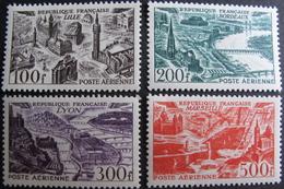 Lot FD/956 - 1949 - POSTE AERIENNE (SERIE COMPLETE) N°24 à 27 NEUFS* - Cote : 70,00 € - Airmail