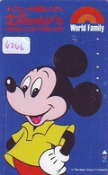 Télécarte Japon 110-011 DISNEY  (6266) MICKEY MOUSE  * PHONECARD JAPAN * TELEFONKARTE * DISNEY'S WORLD OF ENGLISH - Disney